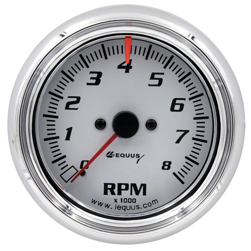 Chrome Equus 6078 3-3//8 Bezel Tachometer