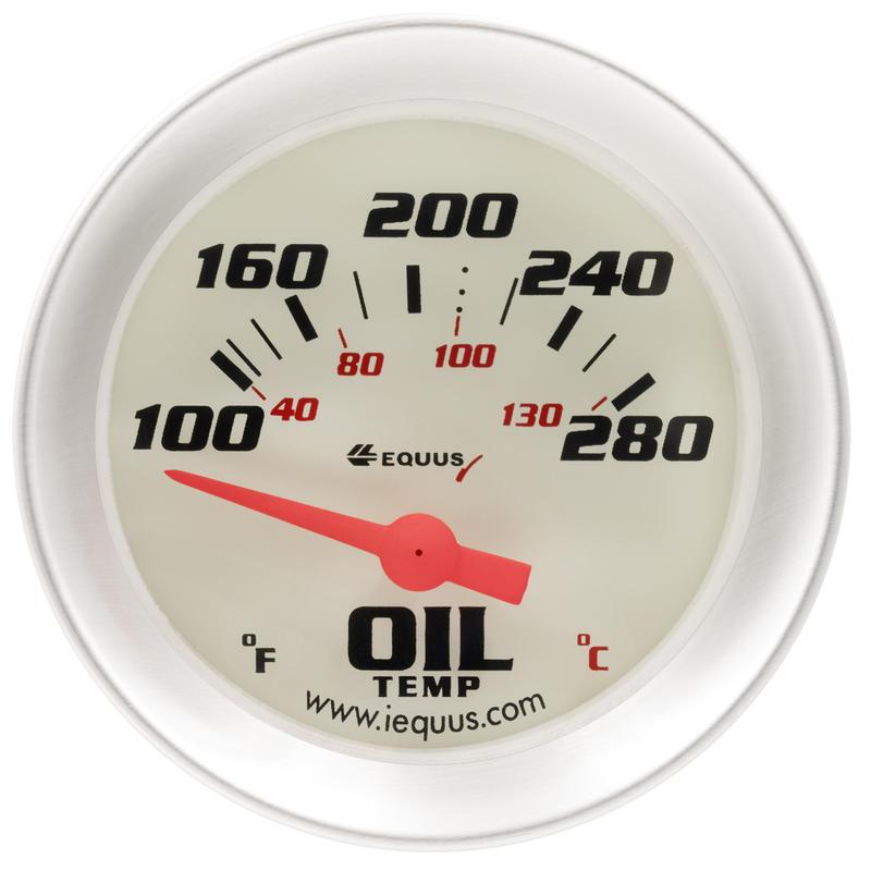 Equus Engine Oil Temperature Gauge 8243 8000 100 280 F 2 1 16 Electric Model Or Series