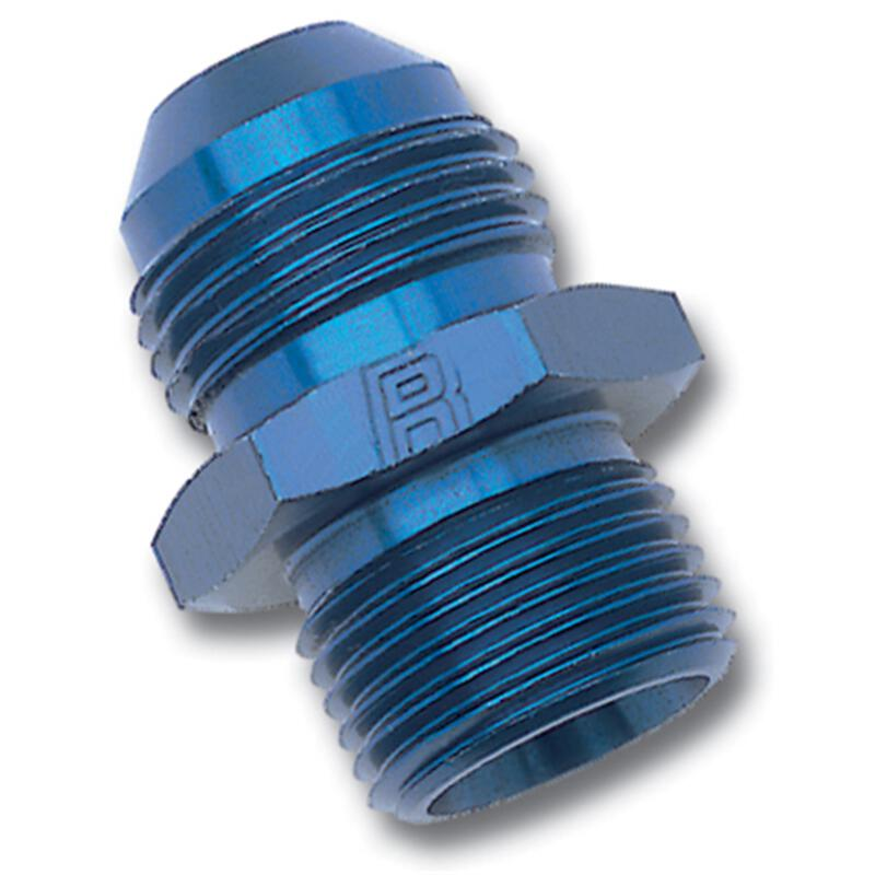 10 AN to M16x1.5 Male Metric Thread Pipe Fuel Fitting Adapter Blue Anodized Straight Aluminum Male Flare