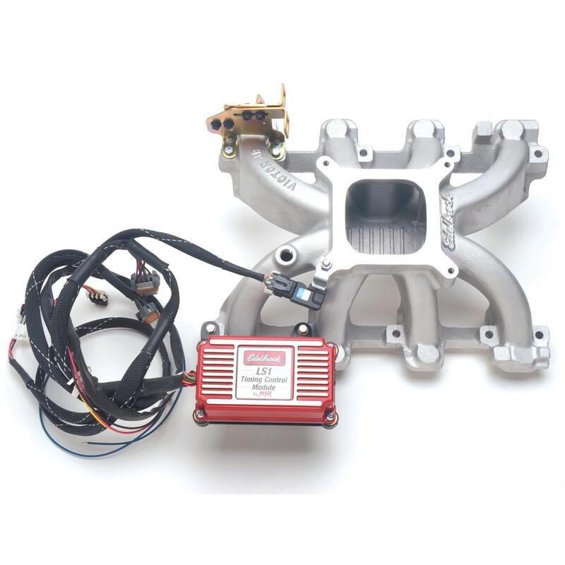 Ls6 Engine For Sale: Edelbrock Intake Manifold 2908; Victor Jr. Satin Aluminum