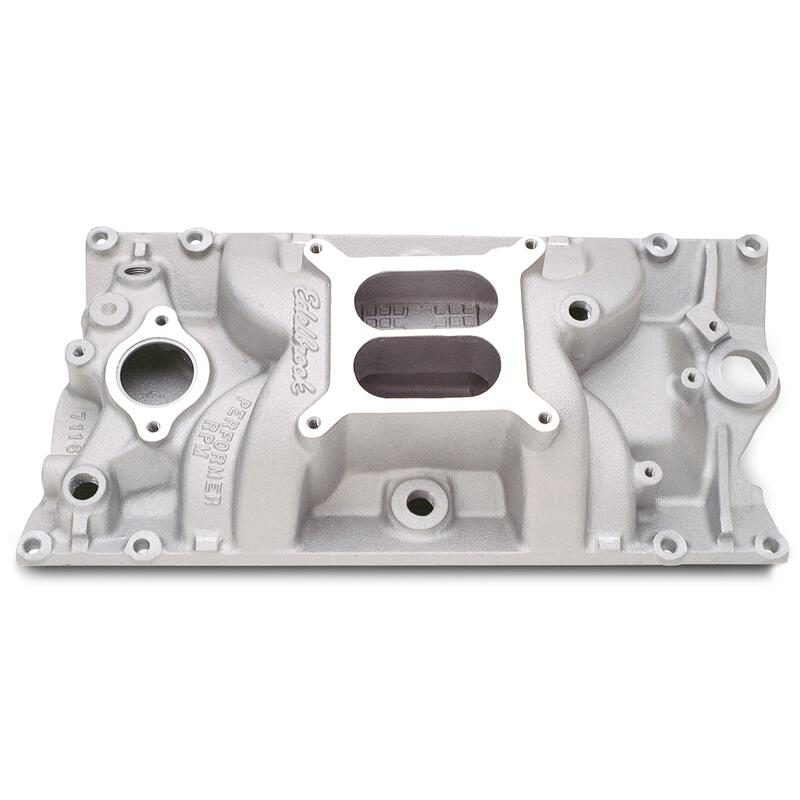 Edelbrock Intake Manifold 7116; Performer RPM Satin For
