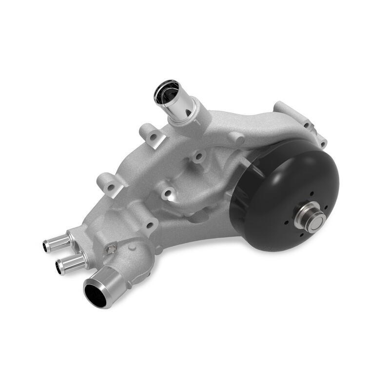 Holley Water Pump 22-102; Satin for Chevy LS-Series
