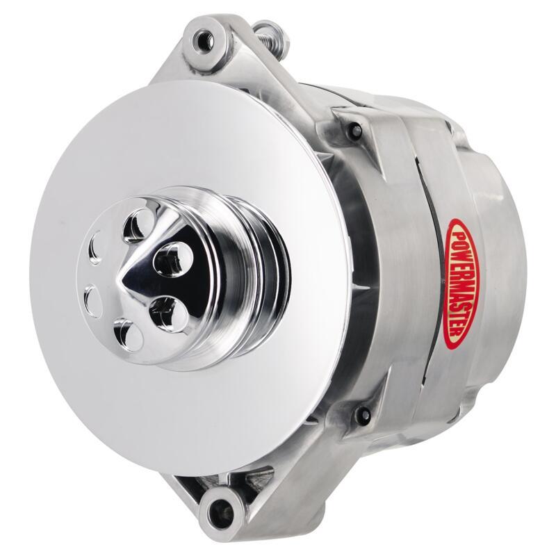 Powermaster Alternator 37293  Oe Look 140 Amp Chrome Gm