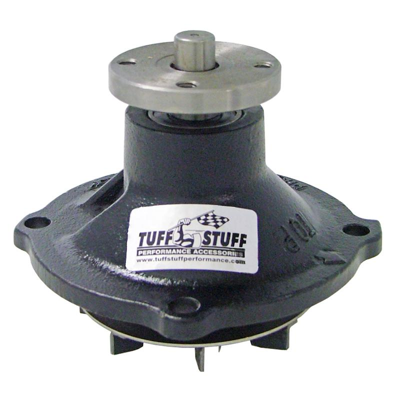 Tuff-Stuff Water Pump 1317NA; Standard Volume Chrome Cast Iron for 383//440 Mopar