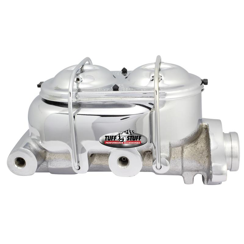 "Tuff Stuff Brake Master Cylinder 2020NCRED; Red 1.000/"" Bore Dual Reservoir"