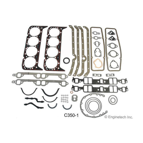Enginetech Engine Gasket Set C350; Rebuilder for 1967-1985 Chevy 350 SBC